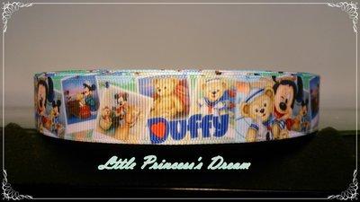迪士尼 22mm 米奇與達菲熊精緻羅紋...