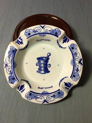 白明月藝術 / 古物雜貨店 荷蘭 早期 手工 手繪 瓷器 煙灰缸