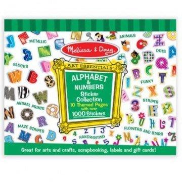 【小糖雜貨舖】美國 Melissa & Doug 大型貼紙收藏簿 - 字母數字