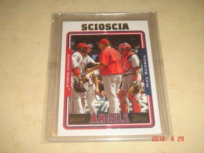 美國職棒 Angels Manager Mike Scioscia 2005 Topps 球員卡