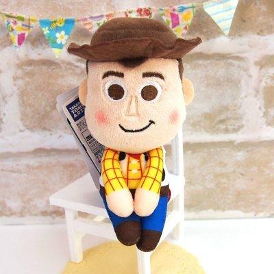 尼德斯Nydus 日本正版 療癒系 Q版 公仔 玩偶 坐姿娃娃 玩具總動員4 胡迪 約14cm
