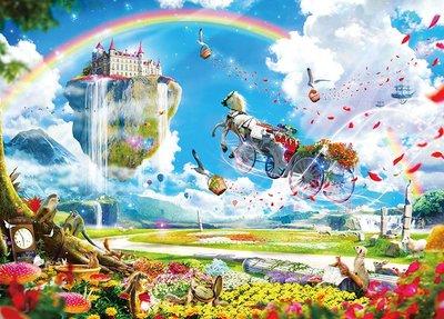 協泰拼圖舖-現貨 EPO-06-059 楠田諭史 花的王國 夢想的馬車 500片 插畫 繪畫 日本