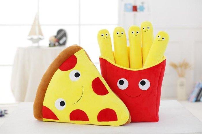 薯條🍟披薩🍕抱枕創意搞笑 仿真 德式香腸 披薩 奶茶 漢堡 薯條抱枕 毛絨玩具 數數道具拍照道具