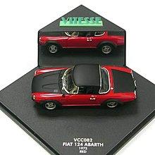 Vitesse #VCC082 1:43 Scale , Fiat 124 Spider Abarth