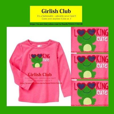 【Girlish Club】crazy 8女童青蛙長袖上衣3T(c288)amber carter's外套二七一元起標
