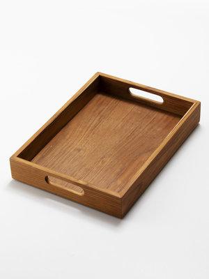 日本Homestead柚木製茶盤托盤收納盤(A4)