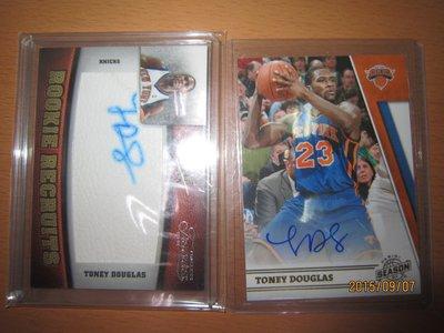 網拍讀賣~Toney Douglas~溜馬隊球星~新人限量簽名卡/299~~普特卡~共2張~250元~輕鬆付~非常少見~