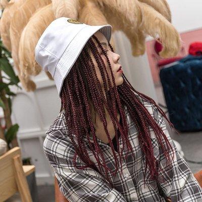 小娜的店-爆款時尚假發帽 臟辮造型帽子假發一體 嘻哈街舞雷鬼辮抖音同款