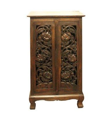 INPHIC-東南亞 家居飾品 泰式飯店 會所 木雕 小傢俱 玫瑰 雕花櫃