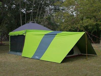 【SAMCAMP 噴火龍】3M*3M直腳/客廳帳 - 專用延伸天幕(全罩式)※可連結並覆蓋帳篷使用/也可當一般天幕使用