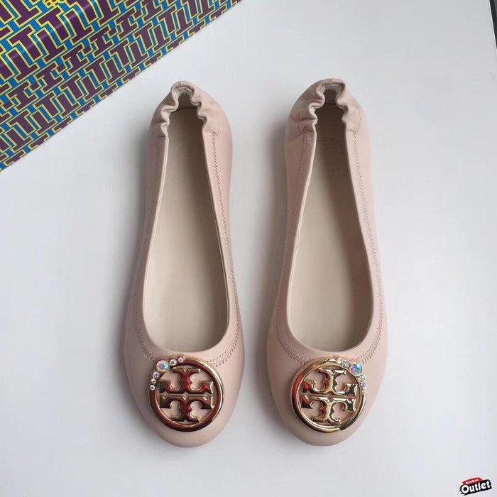 【全球購.COM】TORY BURCH TB 2019新款高跟鞋 粉色 休閒鞋 娃娃鞋美國Outlet代購