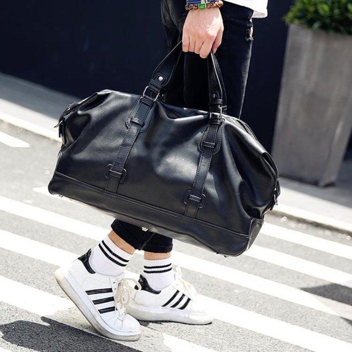 大容量商務手提包皮質旅行包健身包時尚男士短途出差行李包