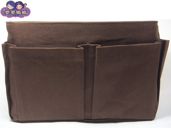 【露西小舖】╭*手作限量(素面咖啡色,大)❤日雜熱銷款❤袋中袋包中包收納袋收納包多功能袋多功能包整理袋整理包手拿包分類包