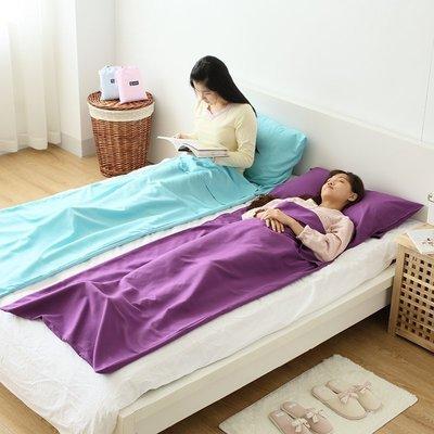 【優上精品】便携隔脏宾馆信封式纯棉睡袋 户外四季成人折叠睡袋(Z-P3128)