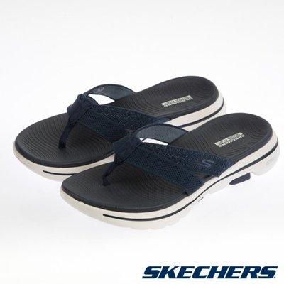 【曼曼鞋包坊】SKECHERS 女款 夾腳拖 拖鞋 時尚 休閒系列 GOWALK 5 深藍 140085NVY