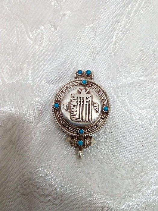 甘丹文物^_^ 925純銀*十相自在 嘎屋*正尼泊爾 (盤整 議價) 護身 除障