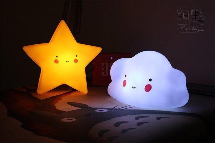 萌點 卡通造型小夜燈 獨角獸 雲朵 星星 兒童房 夜燈 INS爆款 太陽 月亮 七彩【000204】