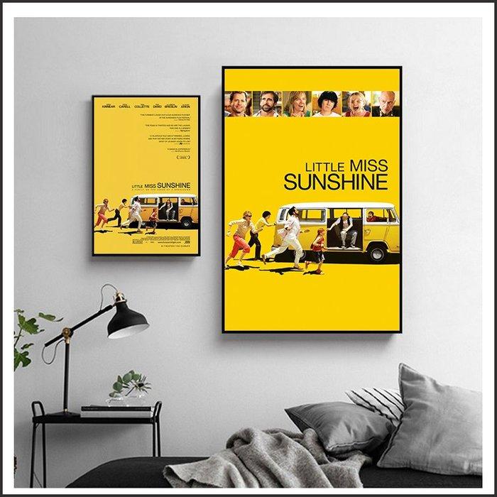 日本製畫布 電影海報 小太陽的願望 Little Miss Sunshine 掛畫 嵌框畫 @Movie PoP #
