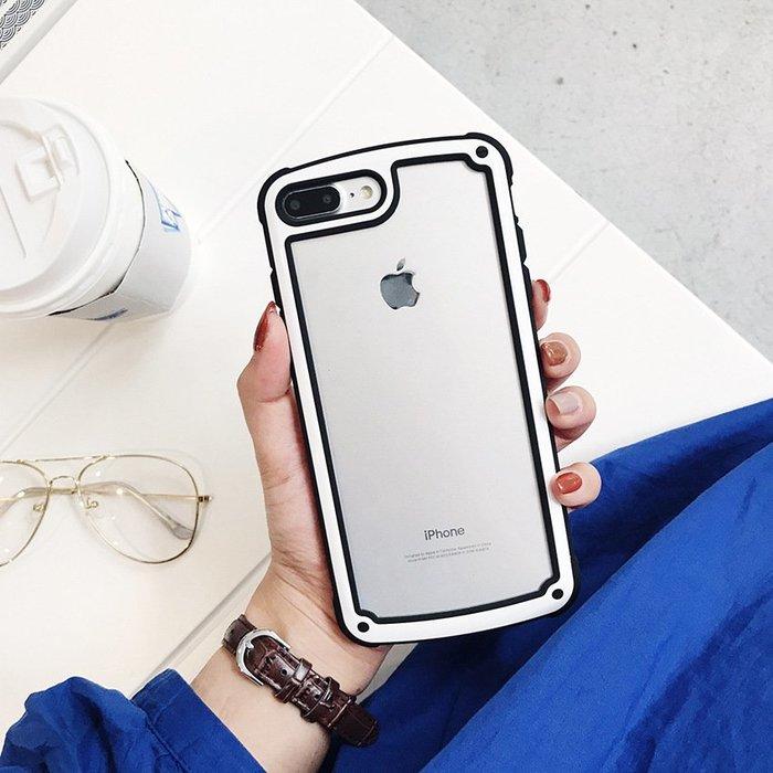 超好看!韓國防摔殼 iPhone X XS MAX XR 6S 7 8 Plus【PH771】透明背板 手機殼 保護殼