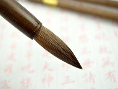宇陞精品-H023-善璉湖筆實木純狼毫毛筆-小楷-出鋒4.5cm-書法練字