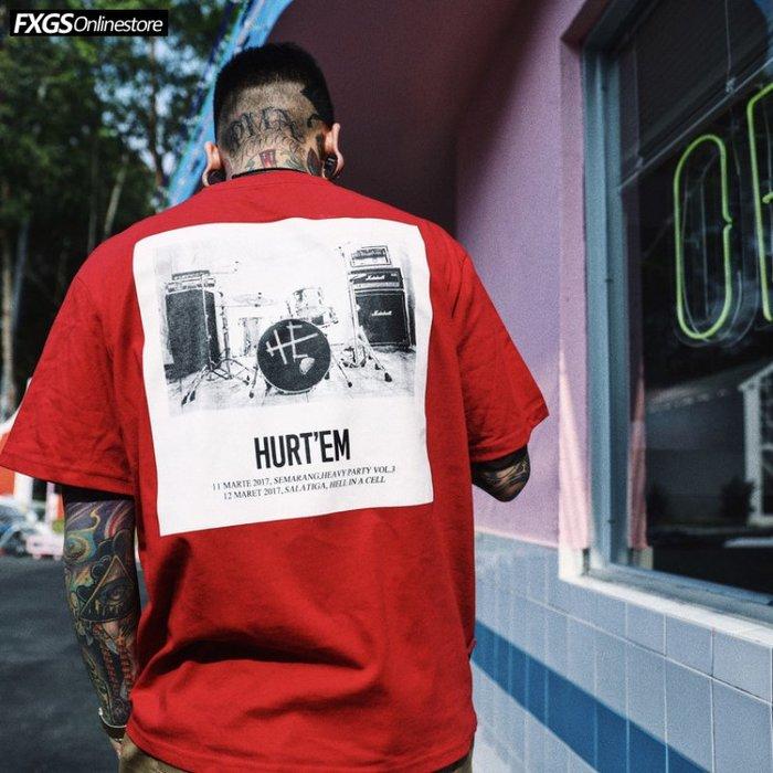 男生短袖正韓版原創潮牌美式街頭嘻哈滑板復古樂隊照片印花潮流短袖T恤男半袖tee8-22