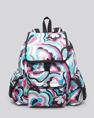 美國名牌 Lesportsac 7839 Backpack 專櫃款多彩防水尼龍後背包(大款)現貨在美特價$2680含郵