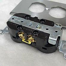 DIY水電材料 不鏽鋼蓋板+電木接地插座/眼鏡型插座/面板 音響接地插座 ~本物件為咖啡色~