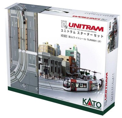 N規 KATO 40-900 富山輕軌 +軌道 TLR0601(赤)入門組