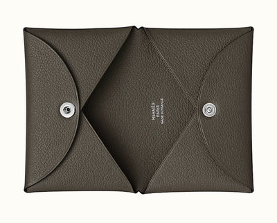 [現貨/預購]Hermes Calvi Cardholder 名片夾 卡夾  Bert maquis  深橄欖綠色Evercolor