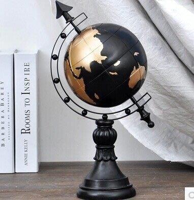 【優上精品】地球儀 服裝店櫥窗裝飾道具 陳列道具 咖啡屋樹脂裝飾品擺件(Z-P3265)