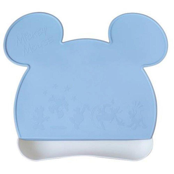 ^燕子部屋 ^ 日本製迪士尼 【米奇 】造型吸盤餐墊-藍