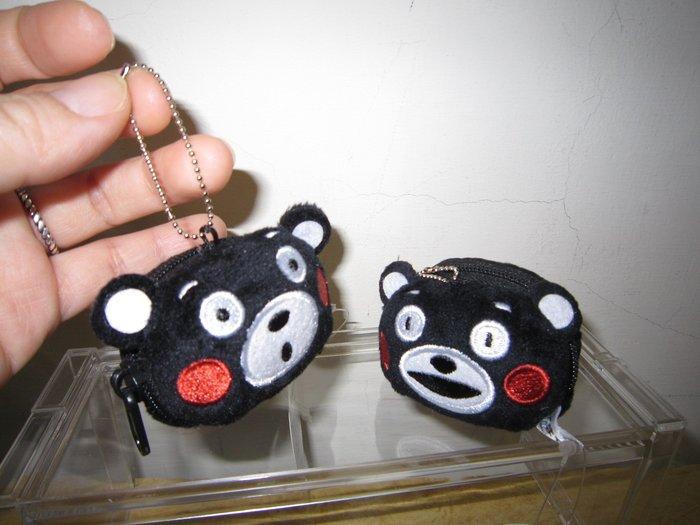 ///可愛娃娃///~日本正版熊本熊零錢包~萌熊零錢包~小零錢包掛飾~2款---約6公分