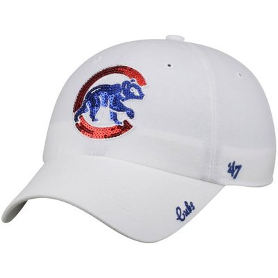 【血拼妞】 47 BRAND CHICAGO CUBS SPARKLE 芝加哥小熊 棒球帽 亮片款 白色《預購》