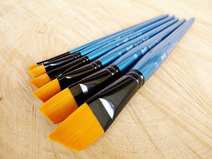 #24 特大  畫筆 染料 上色筆 油畫筆 斜畫筆  水彩筆 水粉筆 尼龍筆 排筆 符合人體工學 高級畫筆