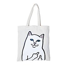 { POISON } RIPNDIP LORD NERMAL LA TOTE BAG 中指貓帆布托特包Rip N Dip