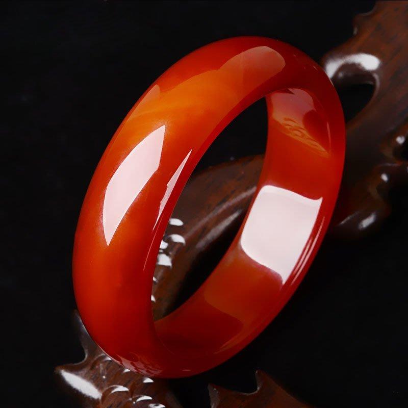 【福寶堂】巴西紅瑪瑙手鐲 原色玉髓玉鐲子女款