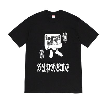 ☆ETW☆【一中店】2019 Supreme Queen Tee 撲克牌 短T 現貨