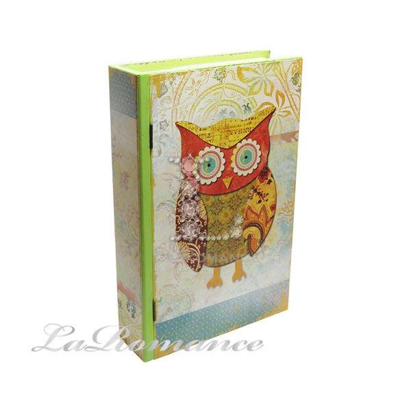 【芮洛蔓 La Romance】貓頭鷹系列書盒 - 綠