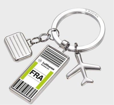 德國設計品牌 Troika 漢莎航空 Lufthansa 限定 法蘭克福Nonstop you 旅行鑰匙圈