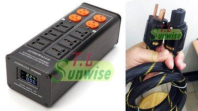 雙顯示 LED版 AUDIOWALLE TP1000 電源濾波器 +1.5米 美國怪獸 電源線 簽名版 升級 AC8.8