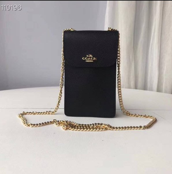 我愛名牌COACH包·美國100%正品【清倉低價出售購買兩件免運】39955時尚鏈條式斜跨小包手機包