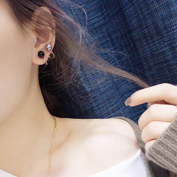 夾式 耳環 正韓歐美極簡風簡約 U形夾 無耳洞耳夾 耳骨夾迷你小耳骨釘耳環耳釘