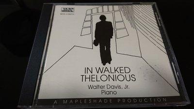 Walter Davis Jr. In walked Thelonious 經典發燒爵士鋼琴稀有版