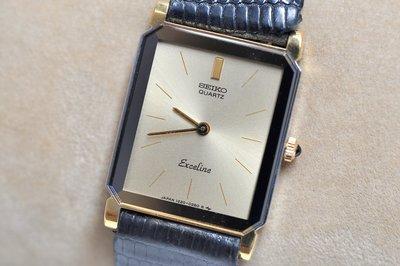 《寶萊精品》SEIKO 精工金黑黃纖細型石英女子錶