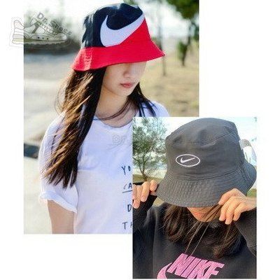 【Dr.Shoes 】現貨Nike NSW Bucket Swoosh Cap 紅黑 雙面 漁夫帽 CI3616-011