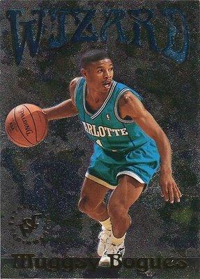 (T)小巨人 Muggsy Bogues 1995-96 TSC Wizard 控球魔術師卡