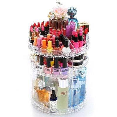 化妝品收納盒透明亞克力旋轉置物桌面護膚品梳妝臺口紅整理LK3660