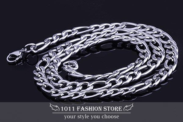 韓國 男性 / 女性 西德鋼 / 鈦鋼 不鏽鋼 扁形 個性項鍊 不鏽鋼項鍊 BH101602 寬版 0.9cm