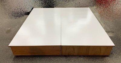 樂居二手家具(北) 便宜2手傢俱拍賣B102102*白色木心板雙人加大床底 床架*2手床組 床墊 新莊樹林板橋龜山三重