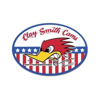 (I LOVE樂多)原版CLAY SMITH叼煙鷹橢圓貼紙 原版品質值你信賴
